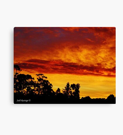 Night Sky at Somerset Canvas Print
