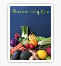 Passionately Raw Fruits And Vegetables Still Life Sticker