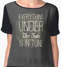 Everything under the Sun is In Tune Pink Floyd Lyrics Chiffon Top