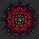 Colourful Mandala with Turquoise Stone by WelshPixie