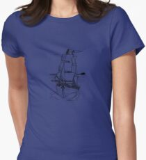 Ship Womens Fitted T-Shirt