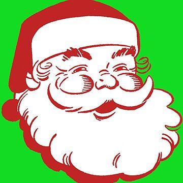 Retro Vintage Christmas Santa by hiway9