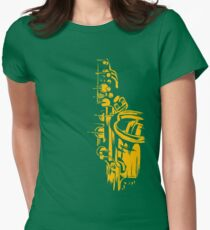 Saxophone Keywork Womens Fitted T-Shirt
