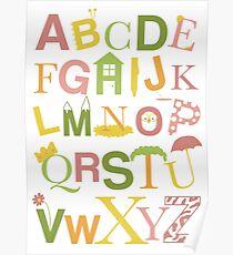 Graphic Alphabet Letters Poster