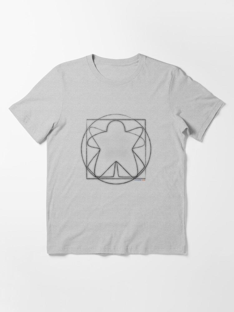 Alternate view of Vitruvian Meeple Essential T-Shirt