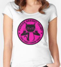 Pussies Against Trump Pink Women's Fitted Scoop T-Shirt