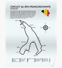 Spa Francorchamps Circuit Poster