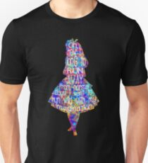 Alice In Wonderland Quote - Colorful Watercolor Unisex T-Shirt