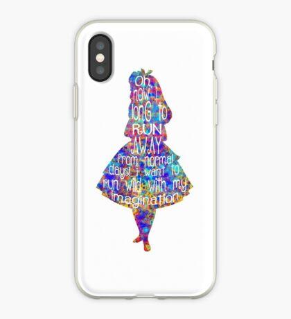 Cita de Alicia en el país de las maravillas - Acuarela colorida Vinilo o funda para iPhone