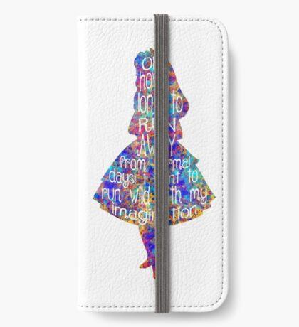 Cita de Alicia en el país de las maravillas - Acuarela colorida Funda tarjetero para iPhone