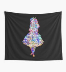 Alice In Wonderland Quote - Colorful Watercolor Wall Tapestry
