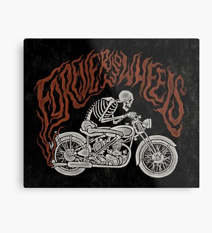 Forever Two Wheels Metal Print