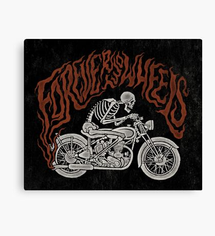 Forever Two Wheels Canvas Print