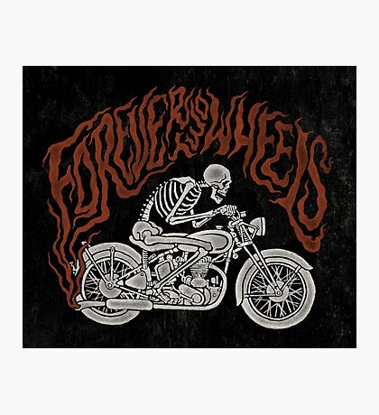 Forever Two Wheels Photographic Print
