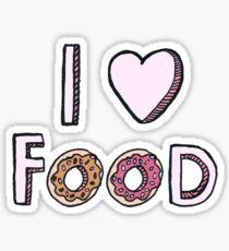 I Love Food Sticker