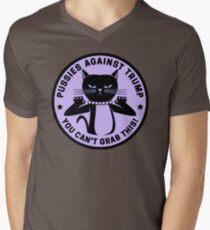 Pussies Against Trump Purple Men's V-Neck T-Shirt
