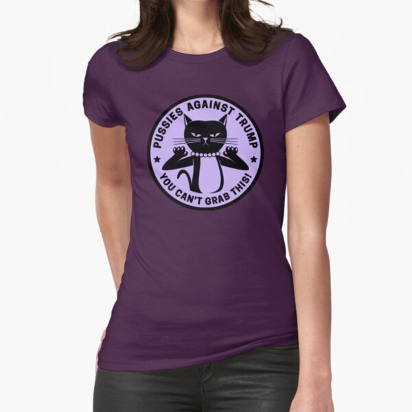 Pussies Against Trump Purple Fitted T-Shirt