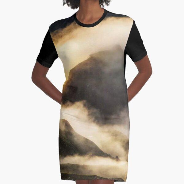 Magic Sunrise Graphic T-Shirt Dress