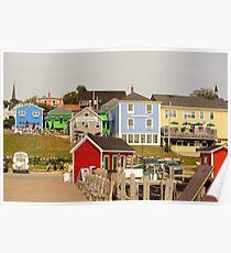 Farbenpracht Lunenburg in Nova Scotia Kanada Poster