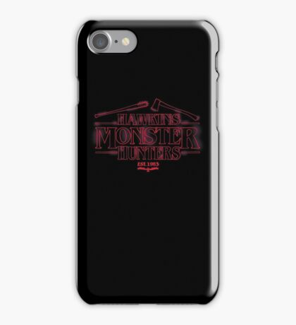 Hawkins Monster Hunters iPhone Case/Skin