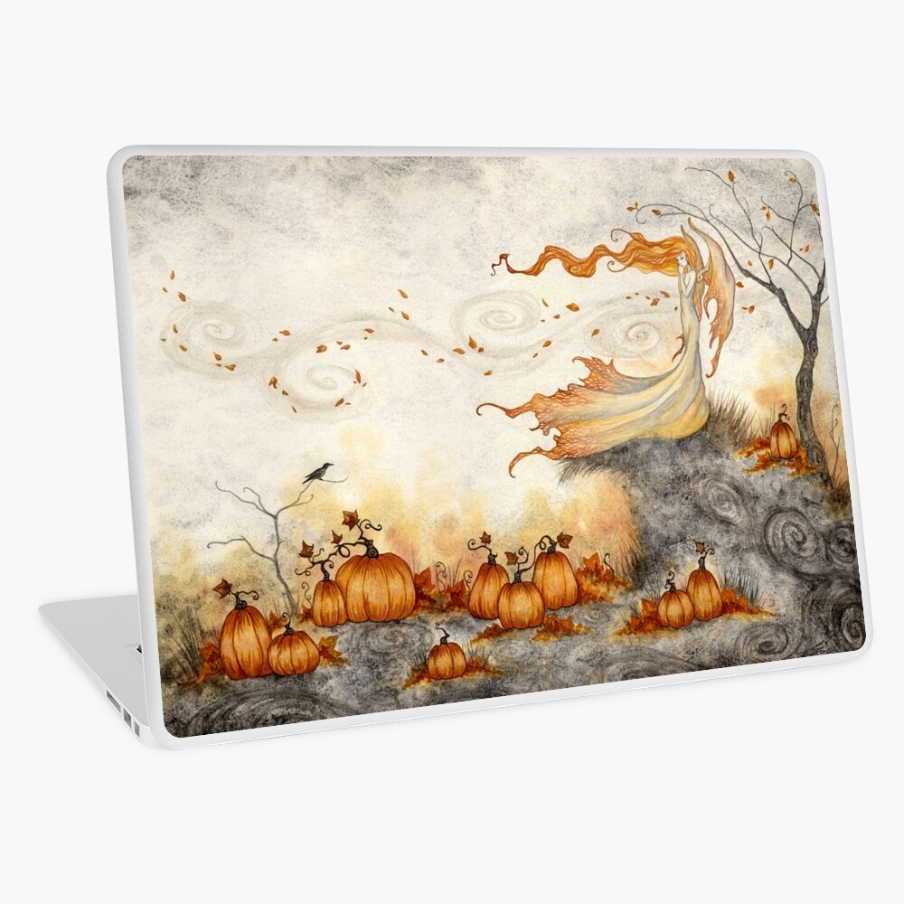 Whispers in the Pumpkin Patch Laptop Skin