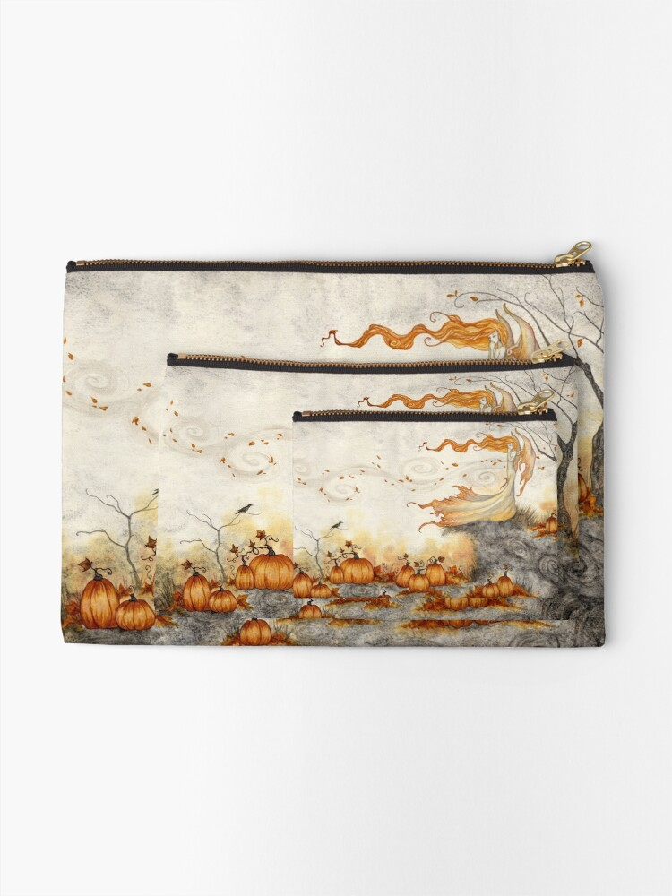 Alternate view of Whispers in the Pumpkin Patch Zipper Pouch