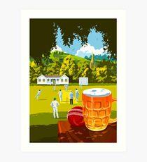 Village Cricket Art Print