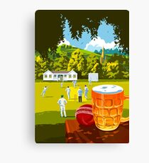 Village Cricket Canvas Print