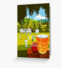 Village Cricket Greeting Card