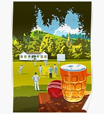 Village Cricket Poster