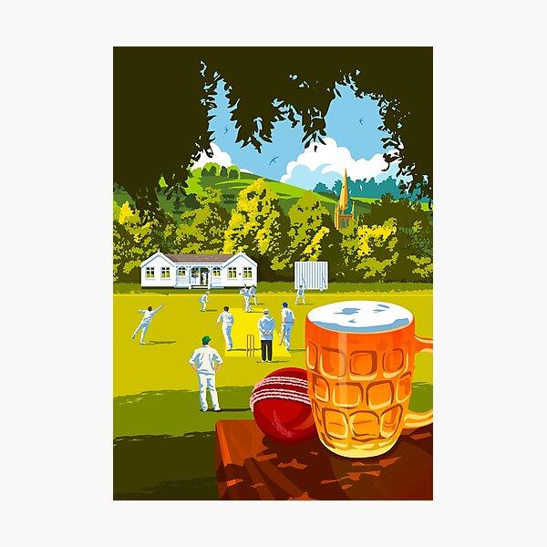 Village Cricket Photographic Print