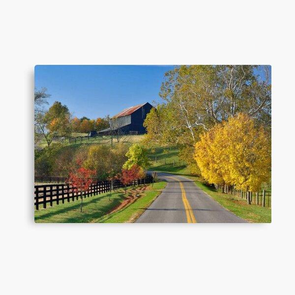 Rural Autumn Landscape Canvas Print