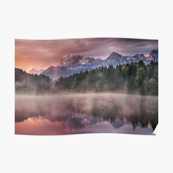 Sunrise At The Lake Poster