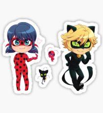Chibi Ladybug + Chat Noir + Kwamis Sticker Set Sticker