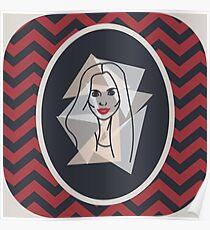 Black & Red Portrait Poster