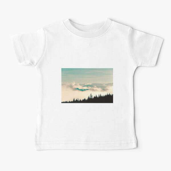Vintage Mountain Forest Fade Baby T-Shirt