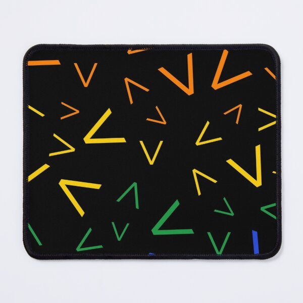 Graphic Rainbow Gradient Spikes Pattern Mouse Pad