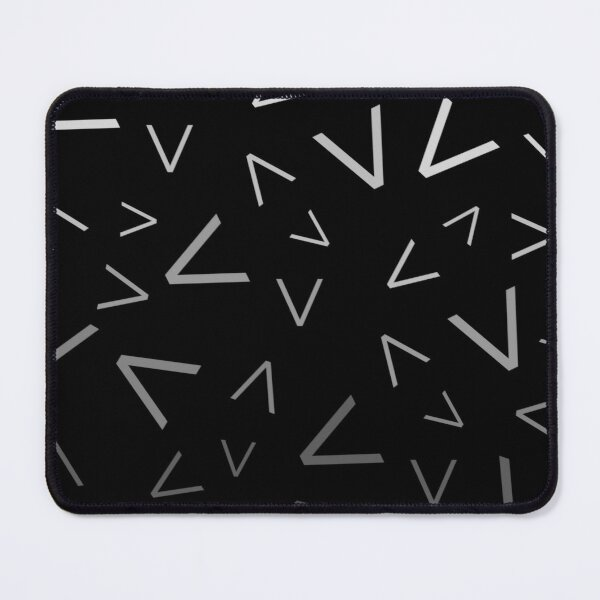 Graphic Grey Gradient Spikes Pattern Mouse Pad