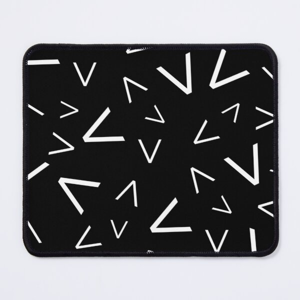 Graphic White Spikes Pattern Mouse Pad