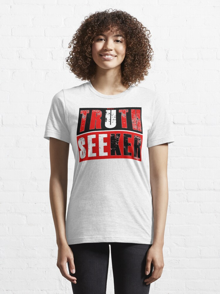 Alternate view of Real Truth-Seeker (Red) Essential T-Shirt
