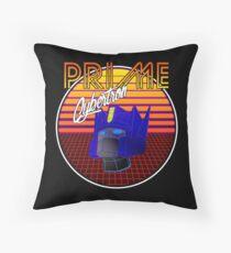 80's Retro Optimus Prime Throw Pillow