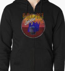 Weathered 80's Retro Optimus Prime Zipped Hoodie