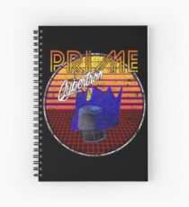 Weathered 80's Retro Optimus Prime Spiral Notebook