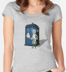Rick and Morty -  Dr who Women's Fitted Scoop T-Shirt