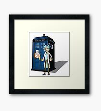 Rick and Morty -  Dr who Framed Print