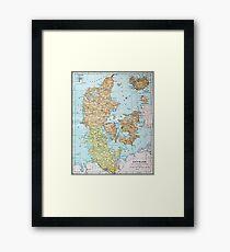 Vintage Map of Denmark (1905)  Framed Print