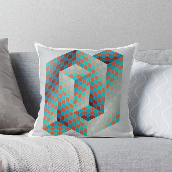 Op Art #OpArt Optical Art #OpticalArt Optical Illusions #OpticalIllusions #Illusion Throw Pillow