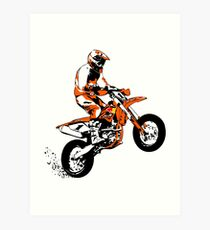 Supermoto Racing Art Print