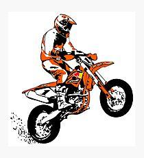 Supermoto Racing Photographic Print