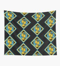 Floral ball in yellow and blue Wall Tapestry